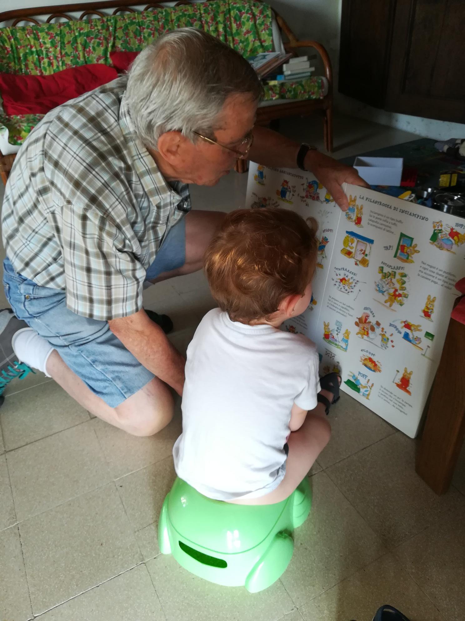 Fede e nonno Teio